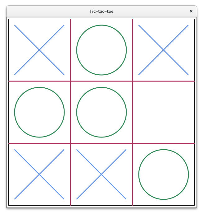 GUI-based Tic-tac-toe game